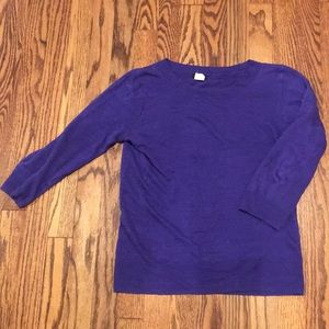 Purple J.Crew sweater XS